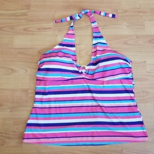 Other - Multi color striped tankini swimsuit top